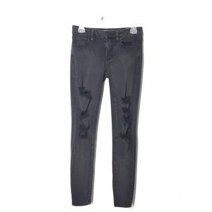 American Eagle Black Distressed Jeans